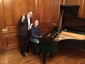 Mark Faber '75 and Bill Barry '77 perform at Homecoming