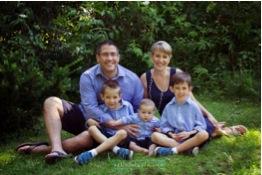 Dan and Mirka Blaho with Andy, David and Matty