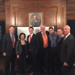 University Chancellor Visits ATO Chapter House 1 (1-22-2015) (1)