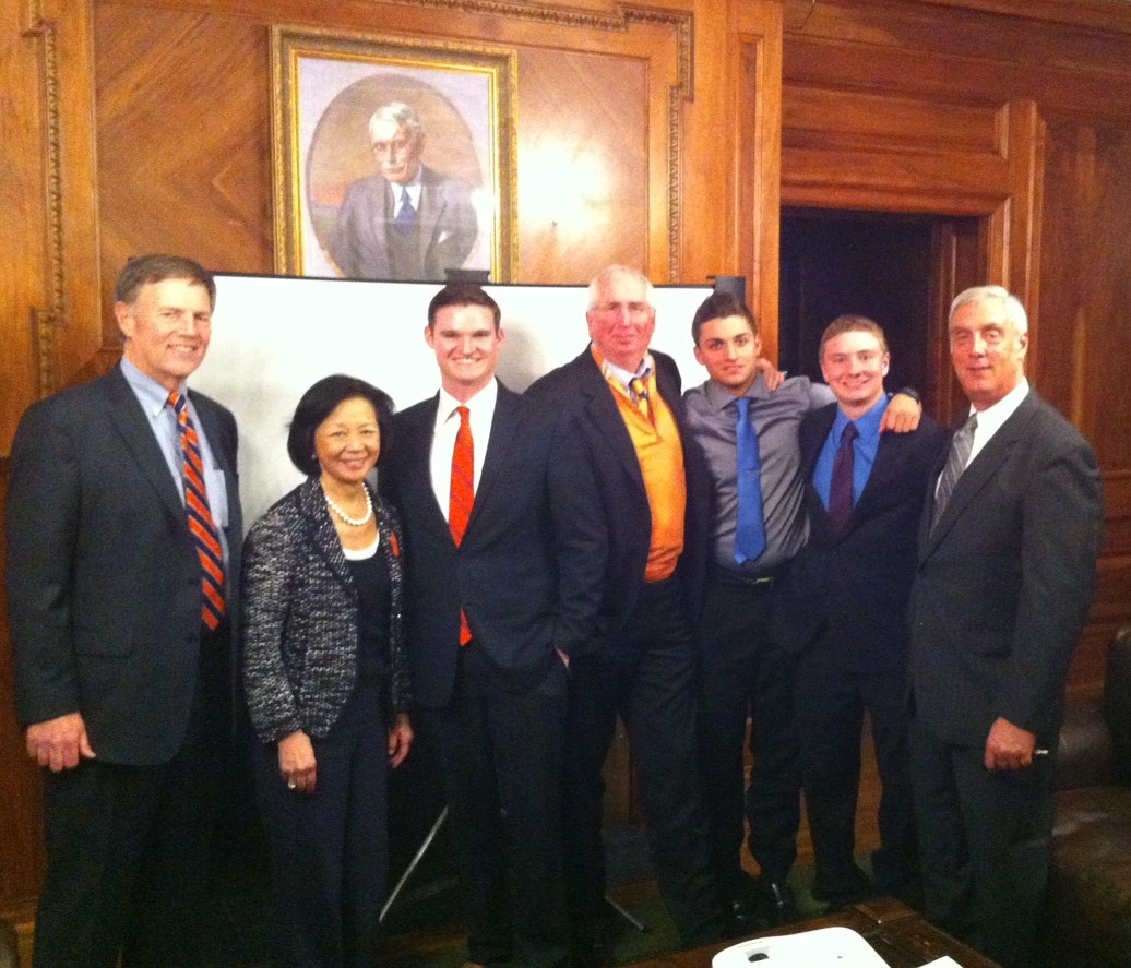 ATO undergrad and alumni leaders host University of Illinois Chancellor Phyllis Wise