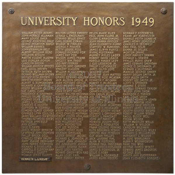 bronze tablet honorees