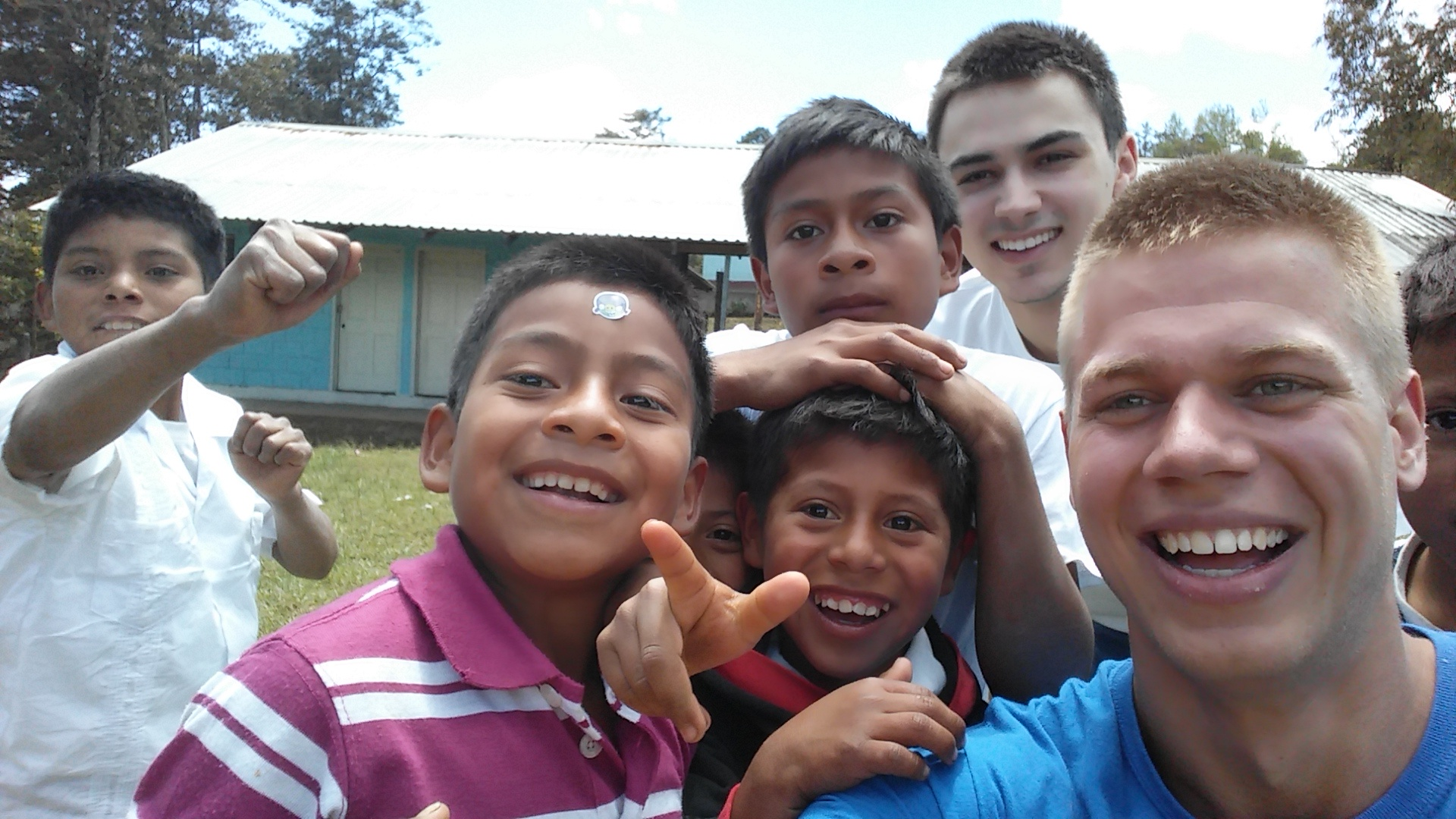 Joe and I with the children of El Cacao
