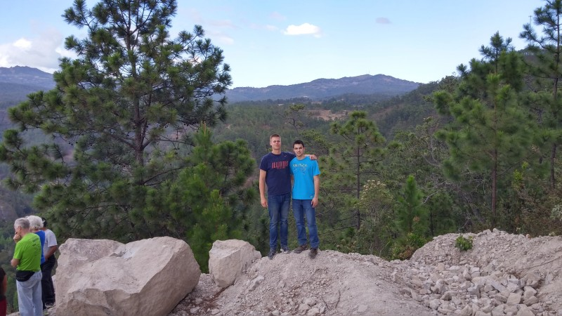 Joe and I overlooking the Honduran mountains. Our team stopped here on our way back from Buena's Aires.
