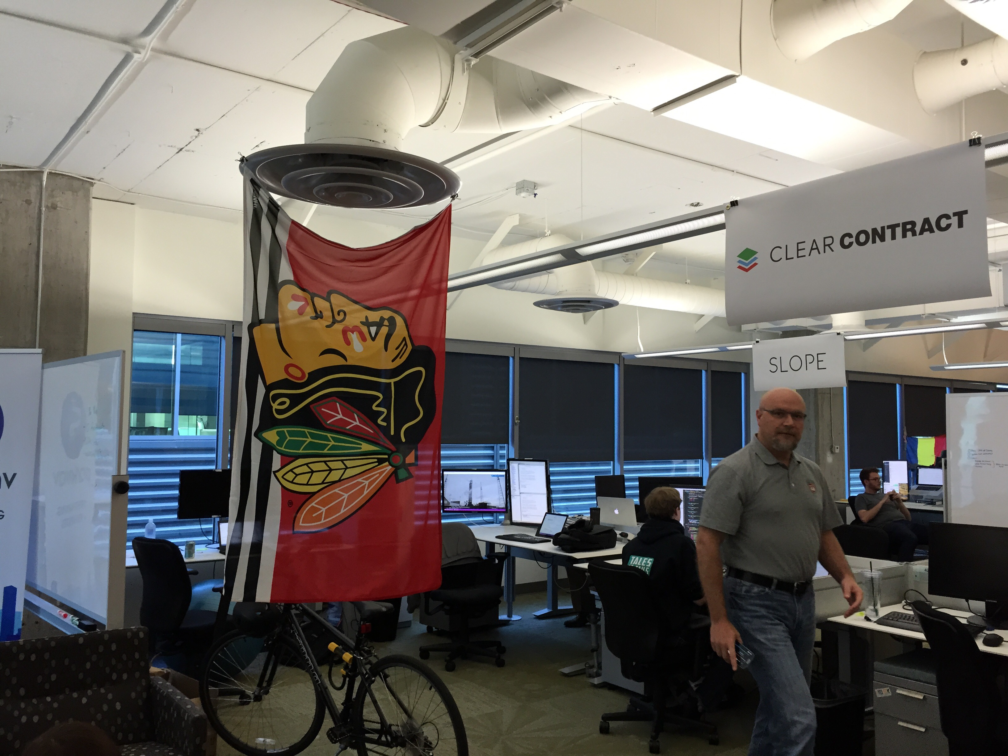 Kyle's workspace at Microsoft - Go Hawks!!