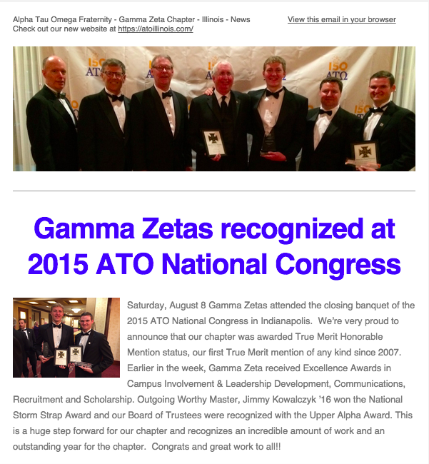 August 2015 Gamma Zeta eNewsletter
